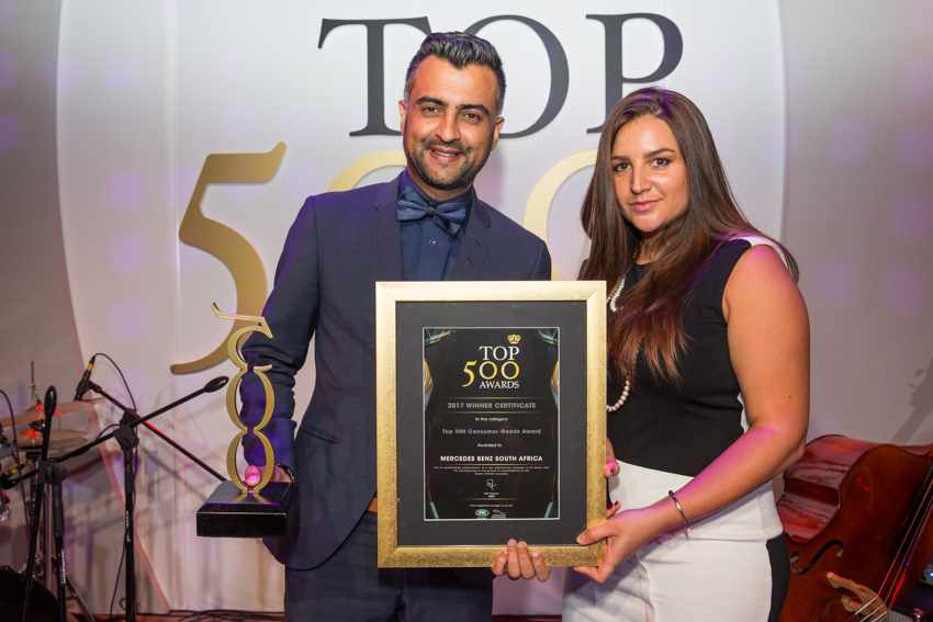 Top 500 Best Managed Company in Consumer Goods Award