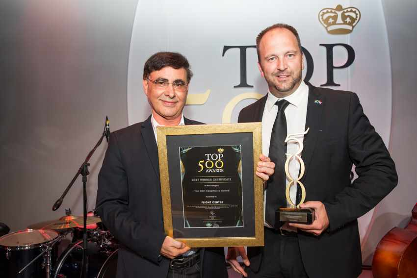 Top 500 Best Managed Company in Hospitality Award