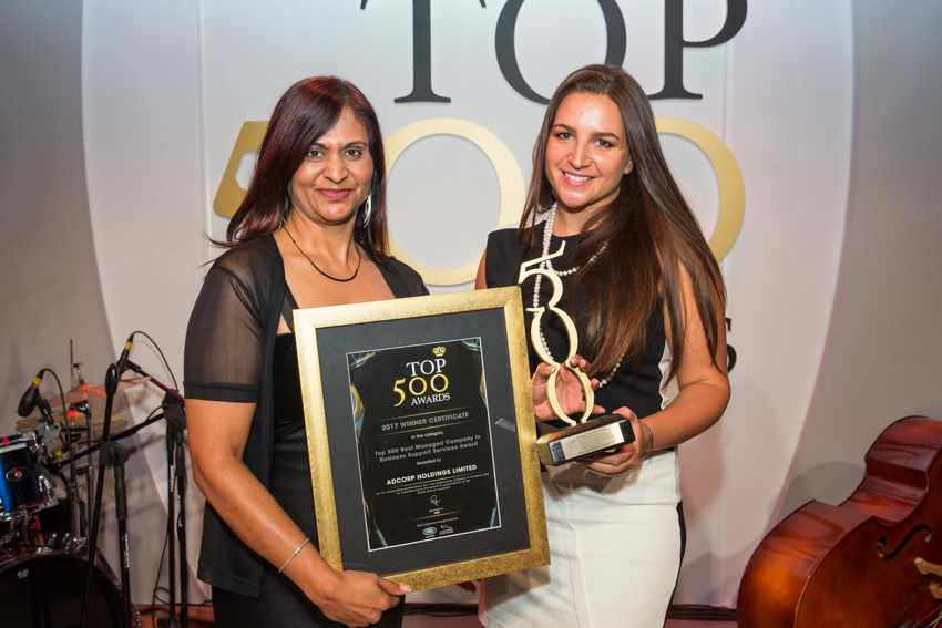 Top 500 Best Managed Company in Business Support Services Award