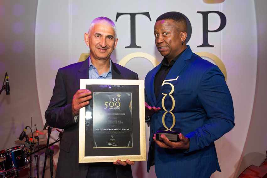 Top 500 Best Managed Company in Health & Pharmaceuticals Award
