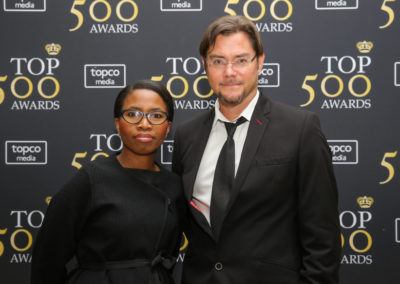 Ms Joy Mabuza and Mr Gareth Pike