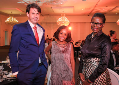 Ms Lwanda Zingitwa and Ms Trudi Makhaya with Mr Ralf Fletcher
